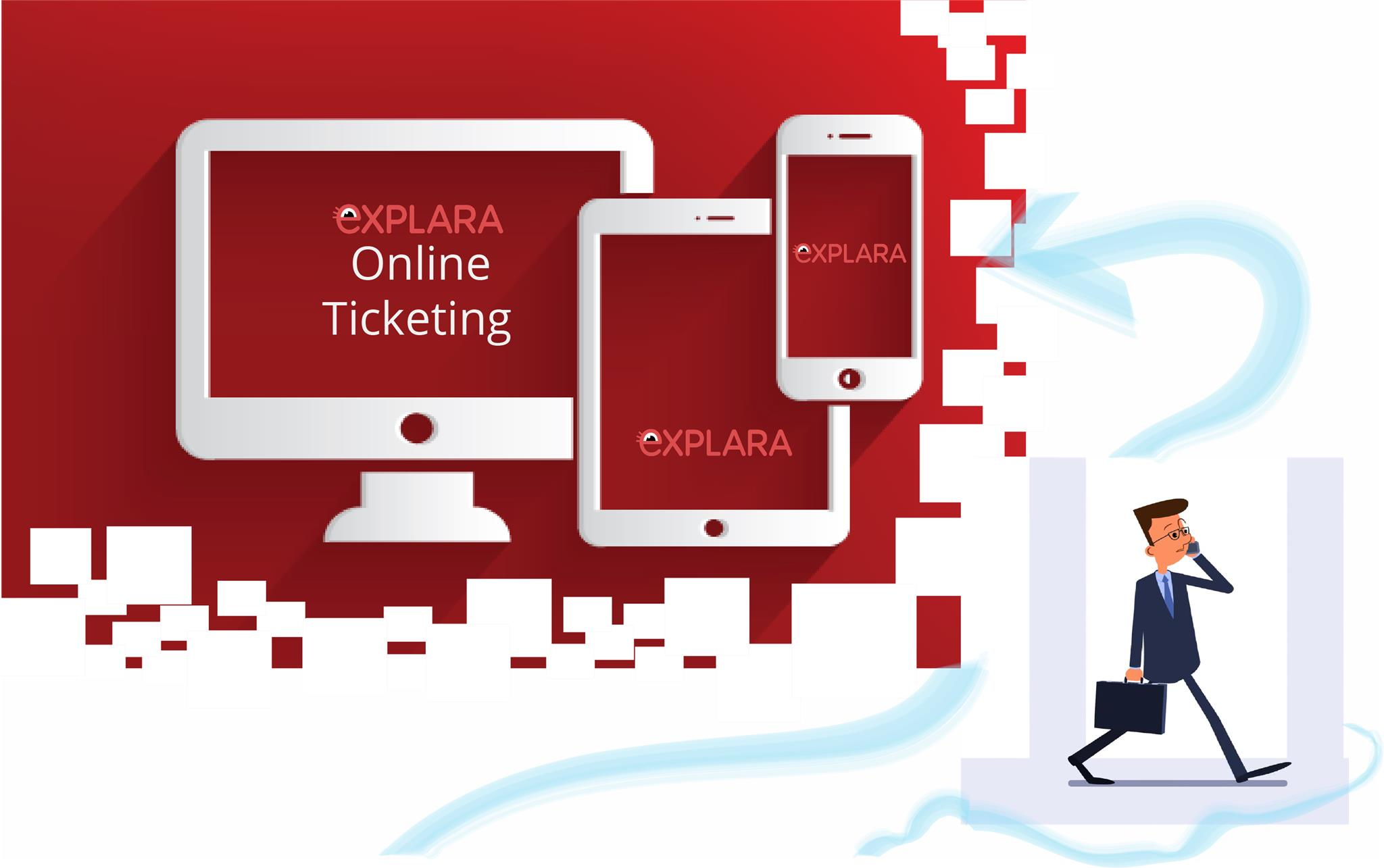 Shift from offline ticketing to online ticketing